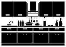 Pictogram van keuken Stock Afbeeldingen