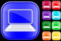 Pictogram van laptop Royalty-vrije Stock Afbeeldingen