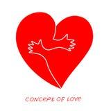 Pictogram van liefde Vectorillustratie, metafoor van hartstocht stock illustratie