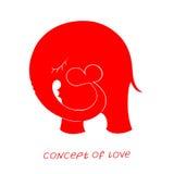 Pictogram van liefde Vectorillustratie, metafoor van hartstocht vector illustratie