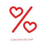 Pictogram van liefde Vectorillustratie, metafoor van hartstocht Malplaatje voor de Dag van Valentine ` s vector illustratie