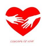 Pictogram van liefde Vectorillustratie, metafoor van hartstocht Malplaatje voor de Dag van Valentine ` s stock illustratie