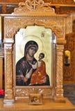 Pictogram van Maagdelijke Mary met Jesus Royalty-vrije Stock Foto's
