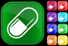 Pictogram van medische capsule Stock Fotografie