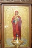 Pictogram van Moeder van God en Jesus-Christus royalty-vrije stock afbeeldingen
