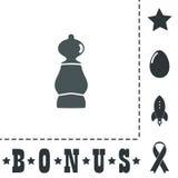 Pictogram van schaakpand Stock Afbeelding