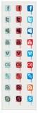 Pictogram van sociale netwerken Stock Fotografie
