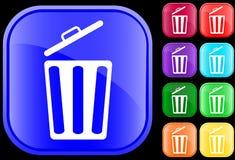 Pictogram van vuilnisbak Royalty-vrije Stock Afbeeldingen