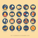 Pictogram vastgesteld bedrijfsstrategie en businessplan Stock Afbeeldingen