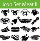 Pictogram Vastgesteld Vlees II vector illustratie