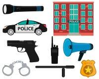 Pictogram vastgestelde politie Stock Afbeeldingen