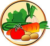 Pictogram - vegetables. Pict - vegetables - onion, carrot, etc Stock Photography