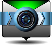 Pictogram videoe-mail Royalty-vrije Stock Foto's