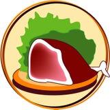 Pictogram - vlees vector illustratie