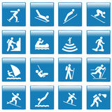 Pictograma con actividades del deporte Foto de archivo