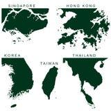 Pictograma de Asia sudoriental del vector Fotografía de archivo libre de regalías