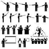 Pictograma de ensino da apresentação do altofalante ilustração do vetor
