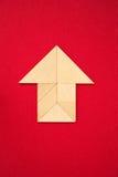 Pictograma de la casa o de la flecha que muestra la dirección Fotos de archivo libres de regalías