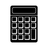 pictograma de la escuela de la matemáticas de la calculadora Imagen de archivo libre de regalías