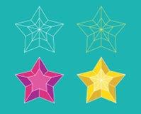 Pictograma de la estrella Imágenes de archivo libres de regalías