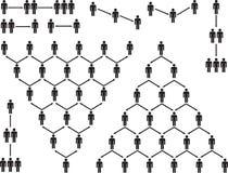 Pictograma de la gente de la pirámide Imagenes de archivo