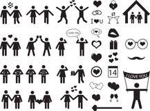 Pictograma de la gente para Valentine Day Foto de archivo libre de regalías