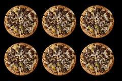 Pictograma de la pizza seis días a la semana fotografía de archivo libre de regalías