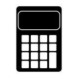 Pictograma del icono de la contabilidad de las matemáticas de la calculadora Imágenes de archivo libres de regalías