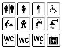 Pictograma do WC & dos toaletes - Iconset ilustração do vetor