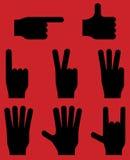 Pictograma dos gestos de mão Vetor EPS 8 Imagem de Stock