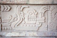 Pictograma en Tula de Allende Imagen de archivo libre de regalías