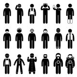 Pictograma uniforme do desgaste do vestuário apropriado da segurança ilustração royalty free
