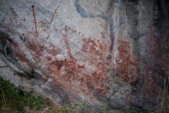 Pictogramas antiguos del nativo americano Imagenes de archivo