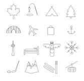 Pictogramas de Canadá Foto de archivo