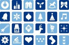 Pictogramas de la Navidad stock de ilustración