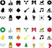 Pictogramas de la Navidad ilustración del vector