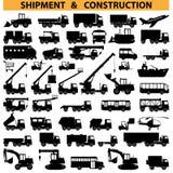Pictogramas de los vehículos comerciales del vector Fotos de archivo
