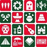 Pictogramas de México ilustración del vector