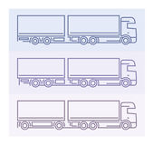Pictogramas del vehículo: Camiones europeos - tándems 3 Imagen de archivo libre de regalías