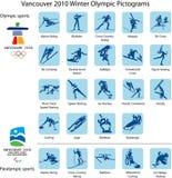 Pictogramas e insignias del deporte   Fotos de archivo libres de regalías