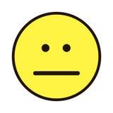 Pictogramglimlach Smiley geel op een witte achtergrond Royalty-vrije Stock Foto's