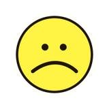 Pictogramglimlach Smiley geel op een witte achtergrond Stock Afbeelding