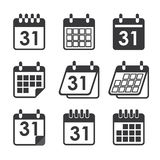 Pictogramkalender Stock Afbeelding