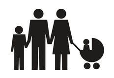 Pictogramme abstrait de famille Images stock