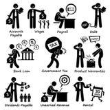Pictogramme Clipart de responsabilité commerciale de société Image stock