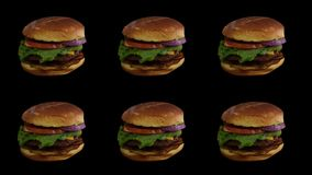 Pictogramme d'hamburgers 6 jours par semaine images stock
