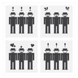 Pictogramme de sentiment d'émotion illustration libre de droits