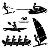 Pictogramme de sport de mer de l'eau Image libre de droits