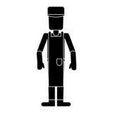 Pictogramme des employés de profession d'homme de travailleur Image stock