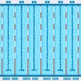 Pictogramme plat de vue supérieure de piscine illustration libre de droits